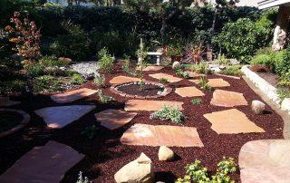 Flagstone in Landscape Garden