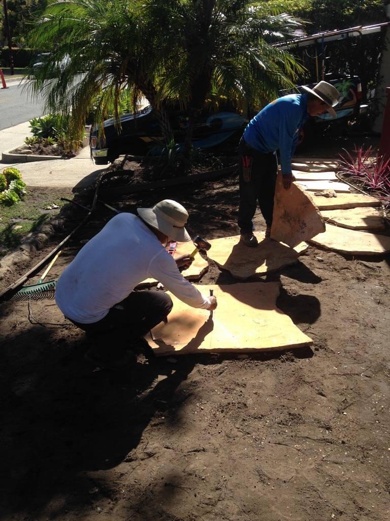 Flagstone Installation in Santa Barbara | Landscapers Santa Barbara
