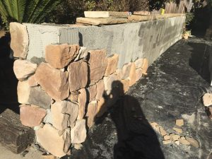 Landscape walls installation by SBevolutionlandscape