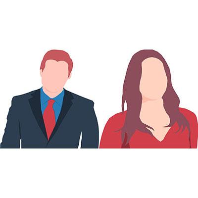 faceless couple